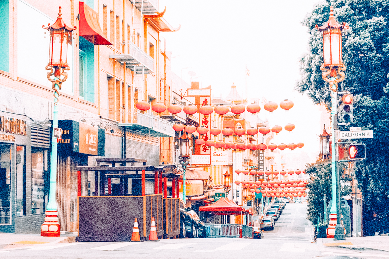 Street in Chinatown in San Francisco