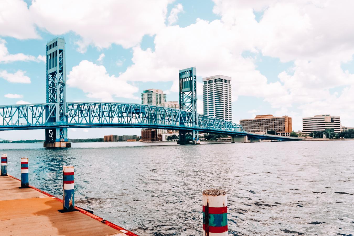 Bridge, water, and buildings