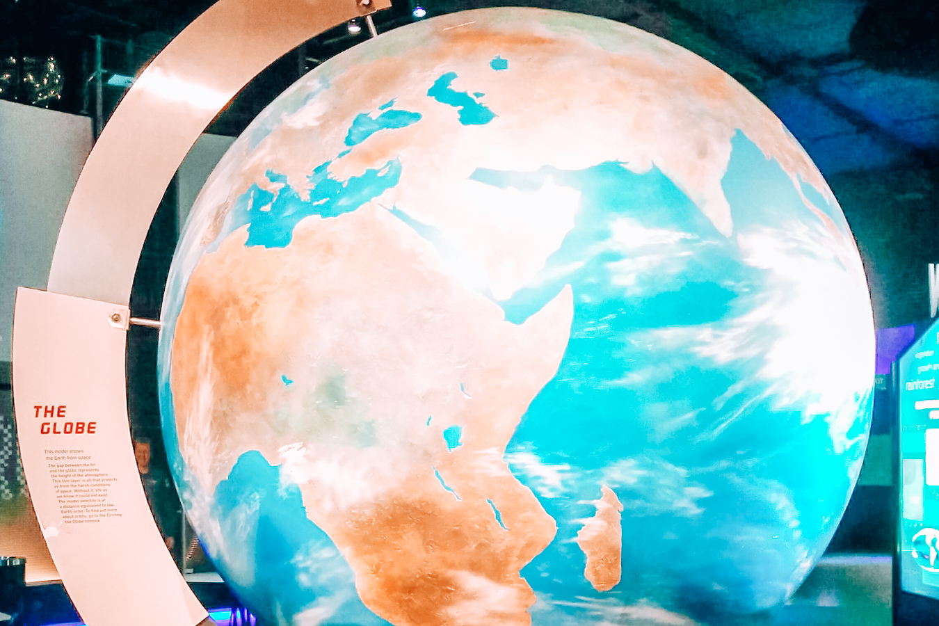 Globe at the National Space Centre