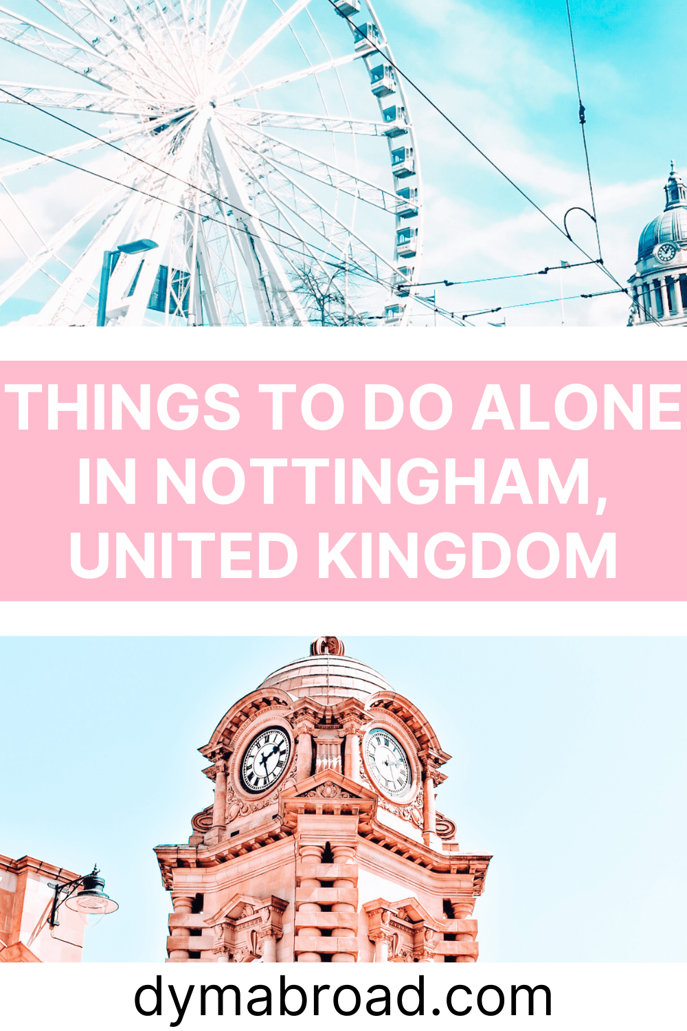 Things to do alone in Nottingham Pinterest image