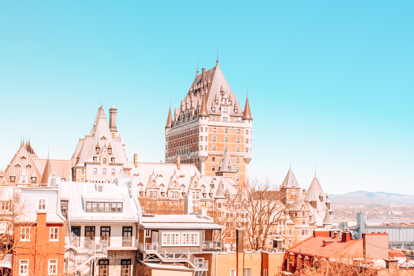 View of buildings in Quebec City
