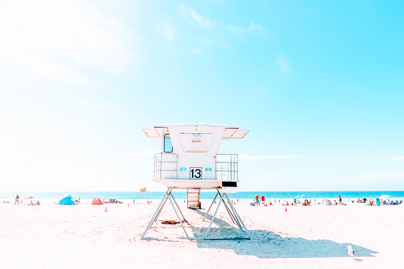 Beach and a blue sky in San Diego