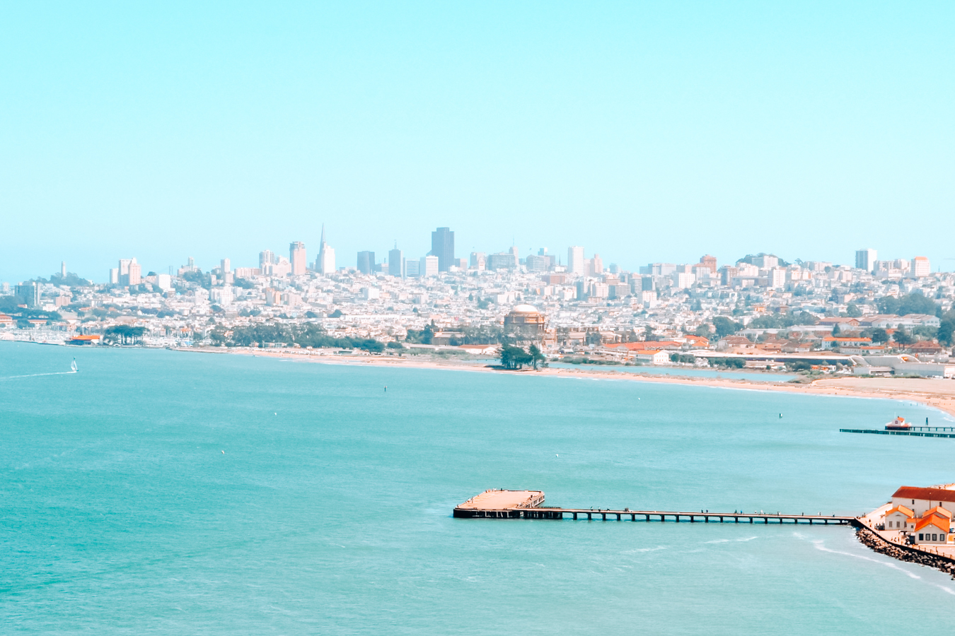 View of San Francisco and water