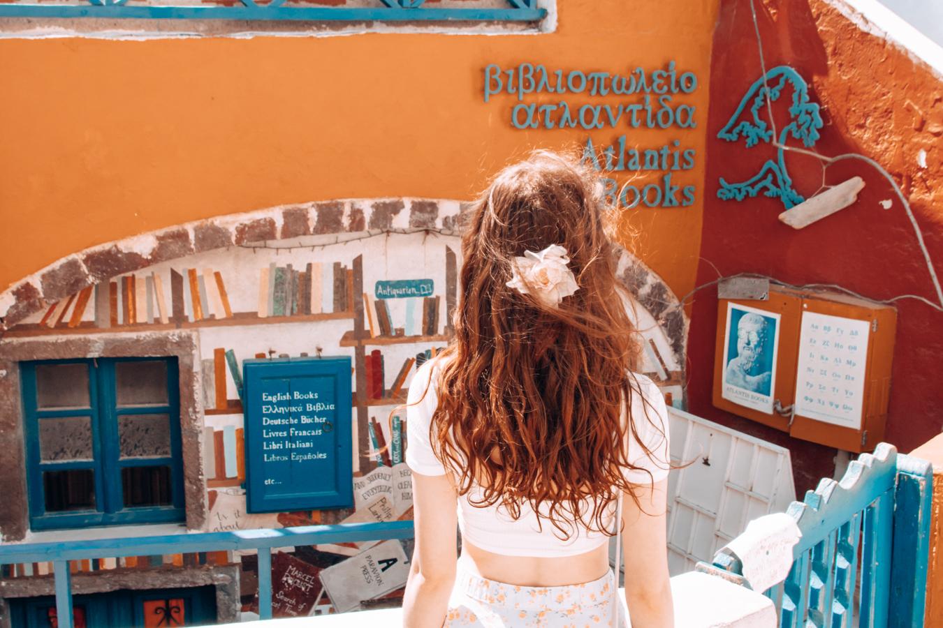 Book shop in Santorini