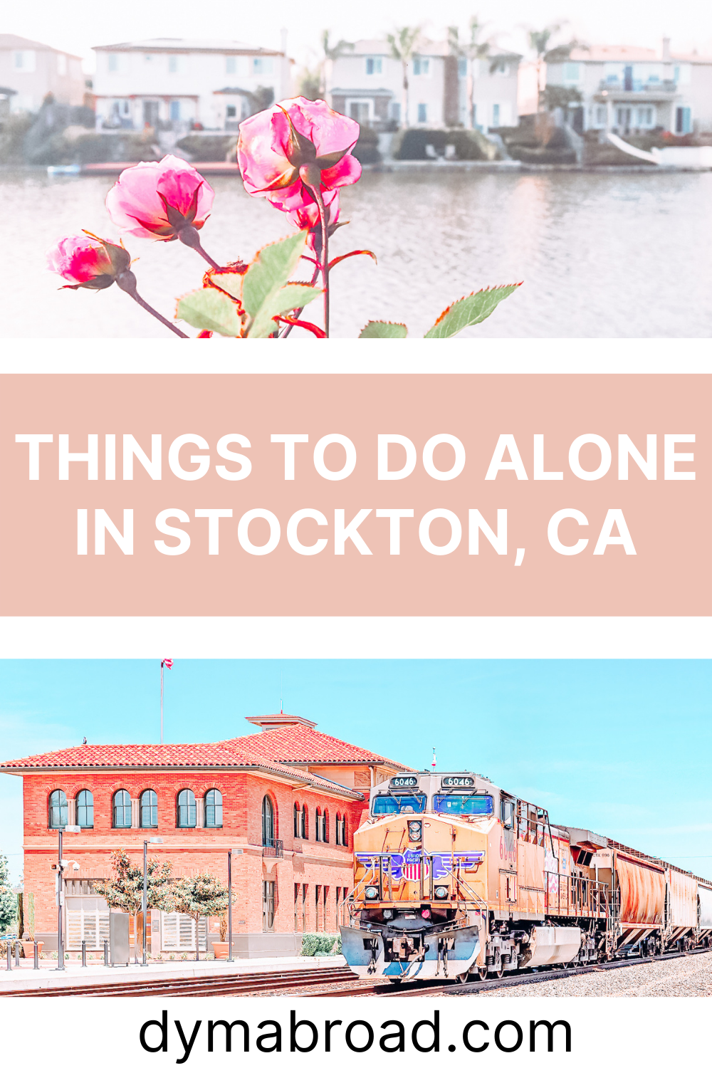 Things to do alone in Stockton second Pinterest image
