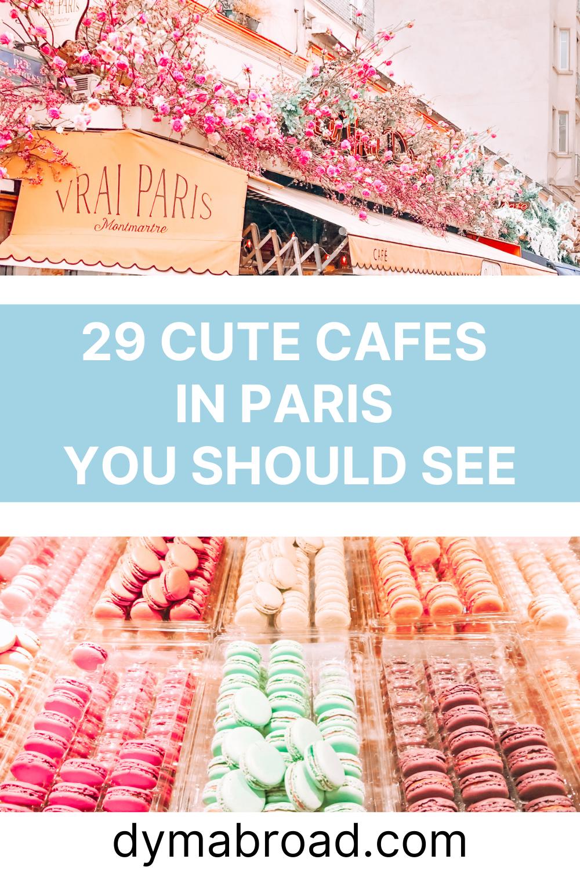 Cute cafes in Paris Pinterest image