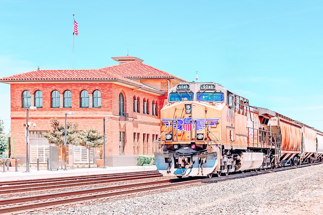 Train station and train
