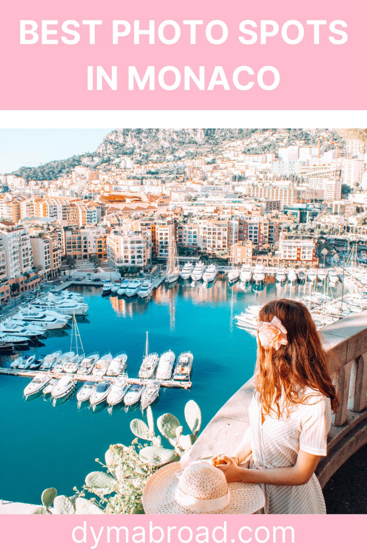 Best photo spots Monaco Pinterest image