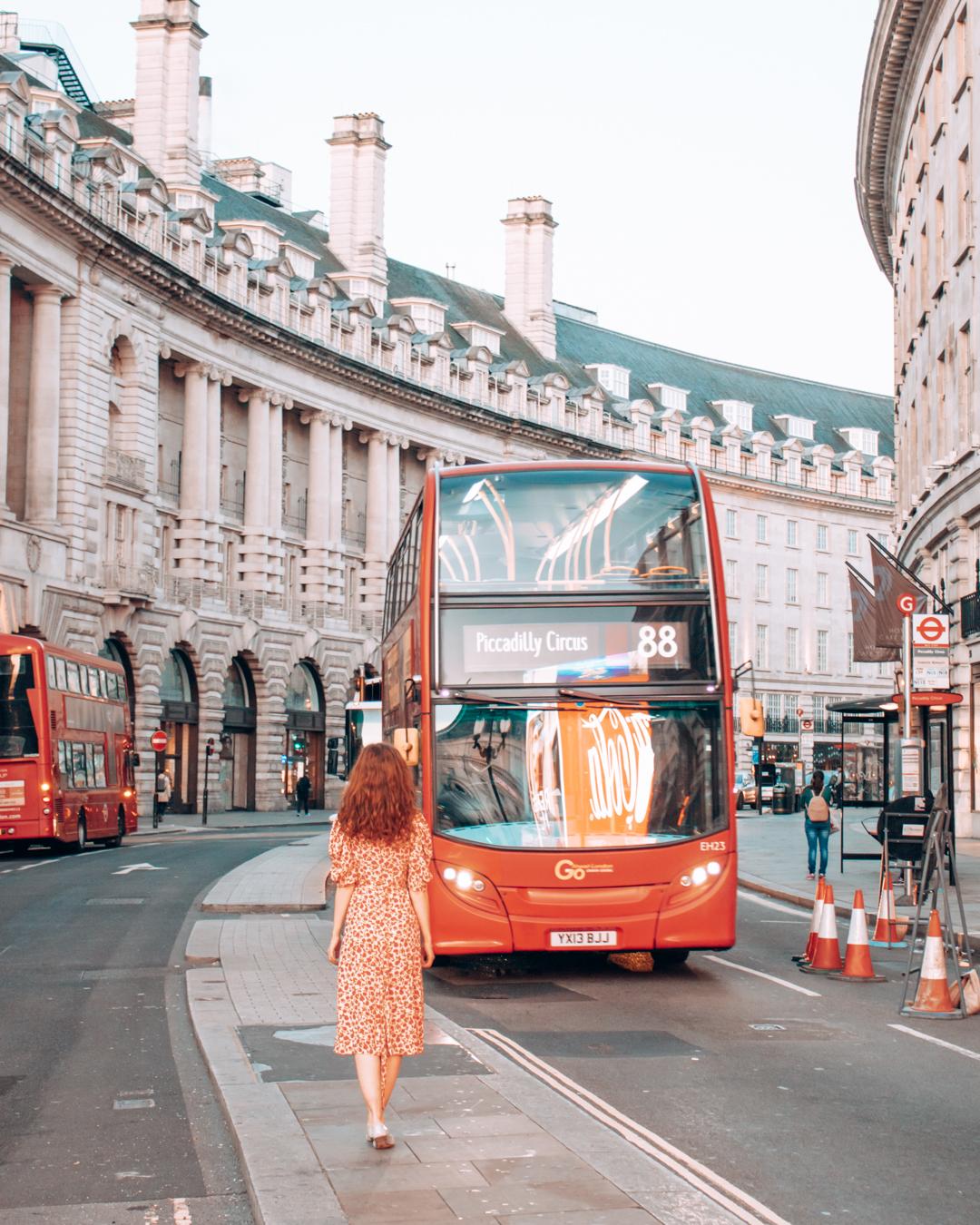 Red Double-Decker Bus in London