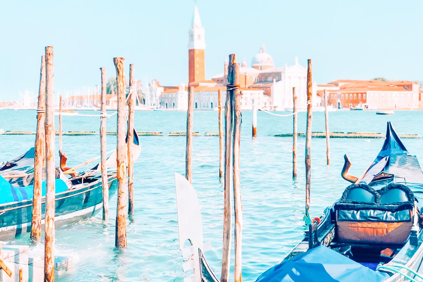 Two gondolas in Venice