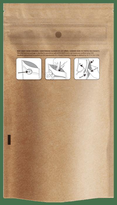 "4.00 x 7.12"" Kraft Child Resistant Bags"