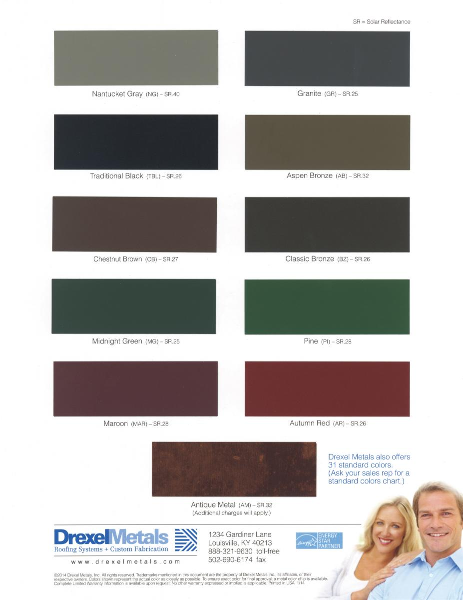 Low Gloss Color Chart