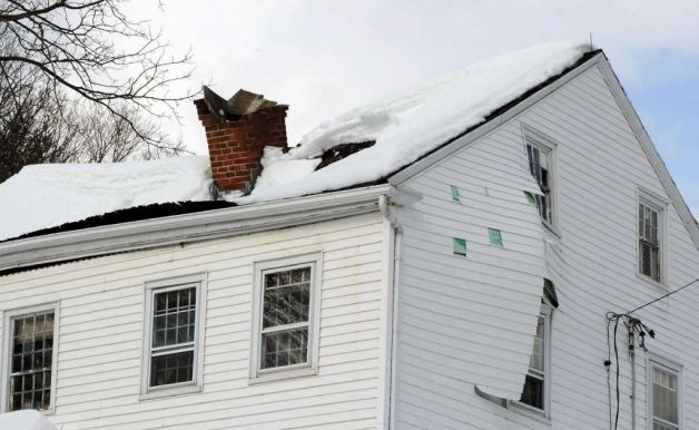 Heavy Snow Roof Collapse