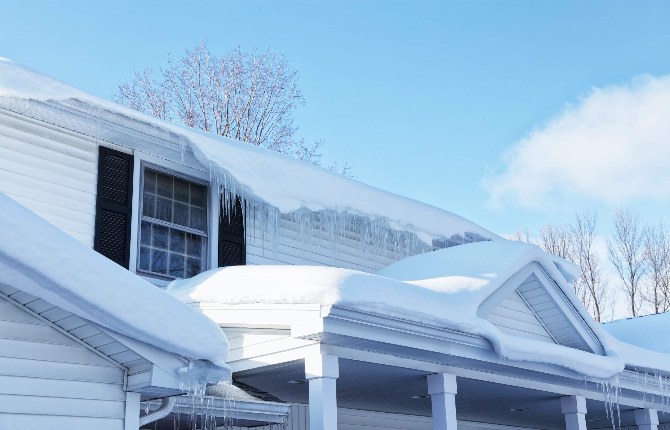 Ice Dam Roof Damage