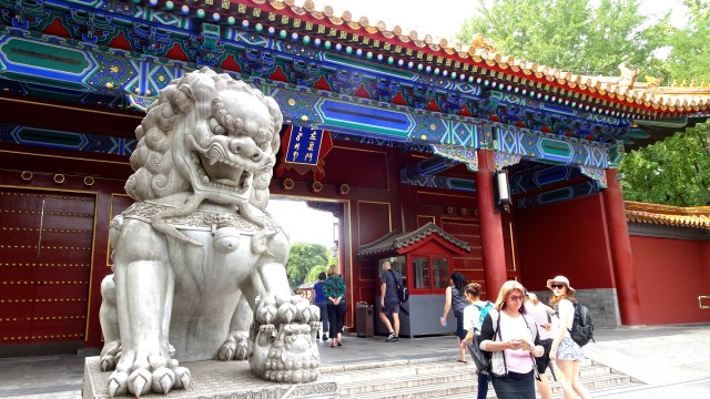 Chinese Lion at the gate of Park; DSC00166 © DY of jtdytravels