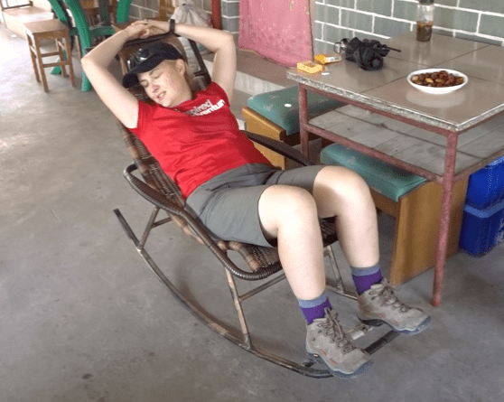 Tanya… a well earned rest!