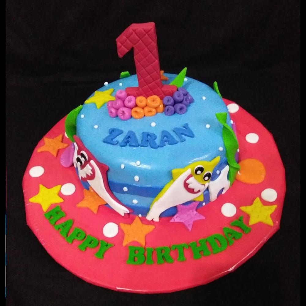 Baby Shark Theme Cake Price In Karachi Dynacakes