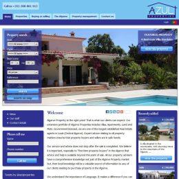 web site for Algarve Property Real Estate Agent Loule Algarve AZUL PROPERTIES