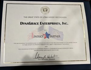 DynaGrace Enterprises Patriot Partner Award