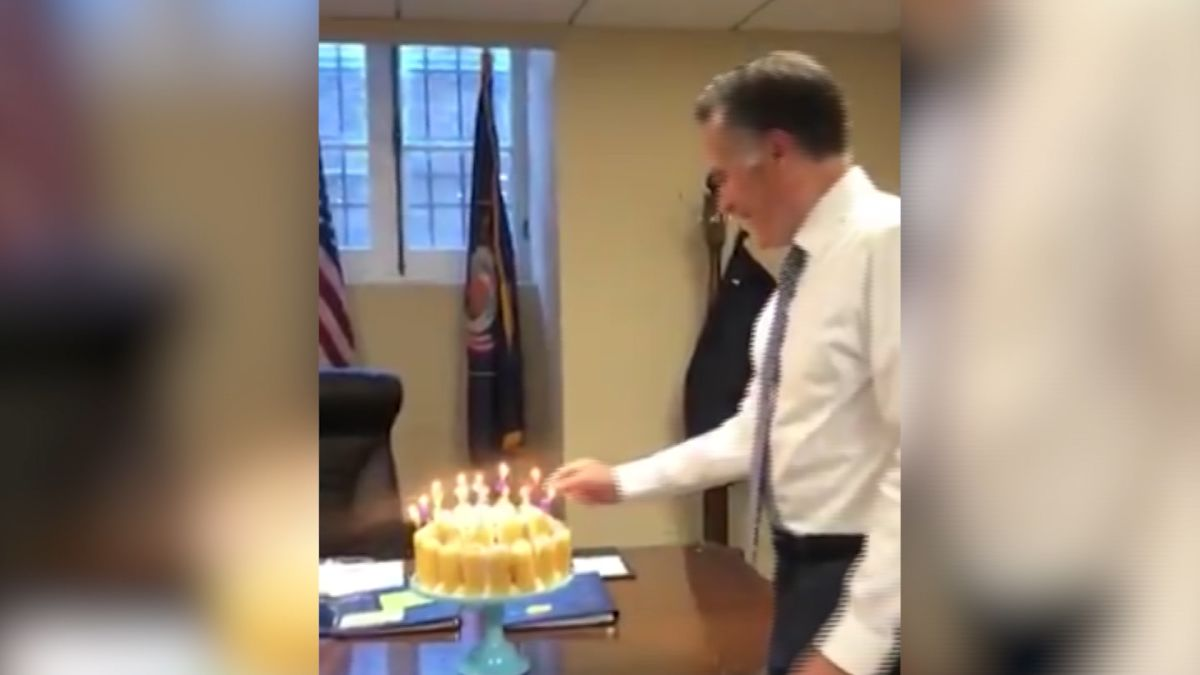 Video Of Romney Blowing Out Candles Lights Up Internet Cnn Video