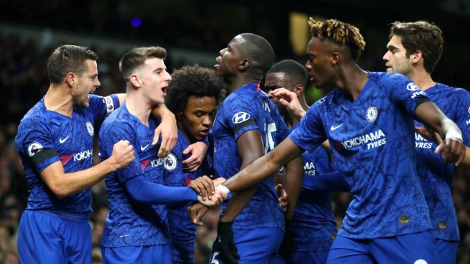 Image result for Chelsea beats Tottenham 2-0, but match marred by racism