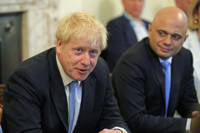 Johnson, left, and his Chancellor Sajid Javid, right.