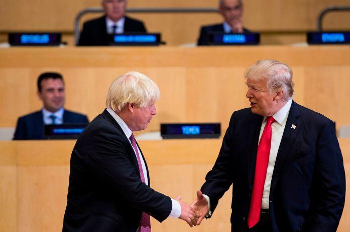 Boris Johnson and President Trump in 2017