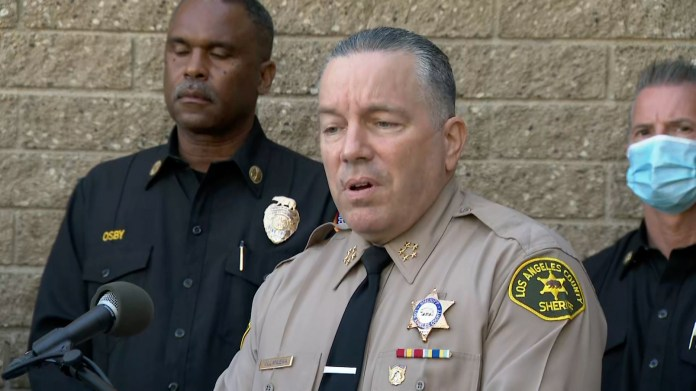 LA County Sheriff Alex Villanueva.