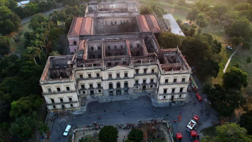 Brazil s National Museum  A museum is gone and might never return     Drone view of Rio de Janeiro s treasured National Museum  one of Brazil s  oldest  on