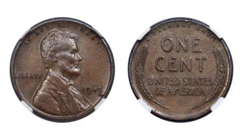 A 1943 cent struck on a bronze planchet.