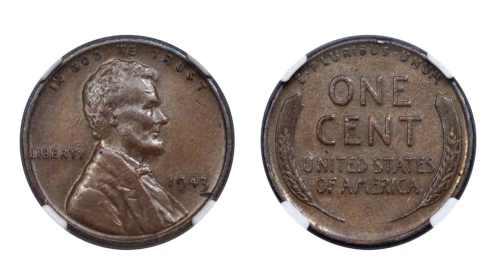 A 1943 cent struck on a bronze planchet.