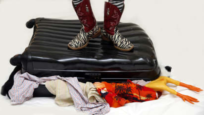 Image result for shoes packing suitcase