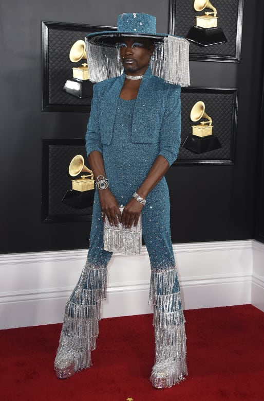 Billy Porter arrives at the 62nd annual Grammy Awards at the Staples Center on Sunday, Jan. 26, 2020, in Los Angeles.