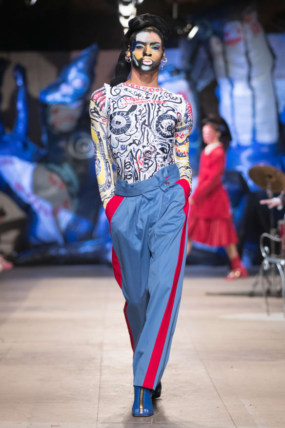 Charles Jeffrey's LOVERBOY at London Fashion Week Men's in January 2018.