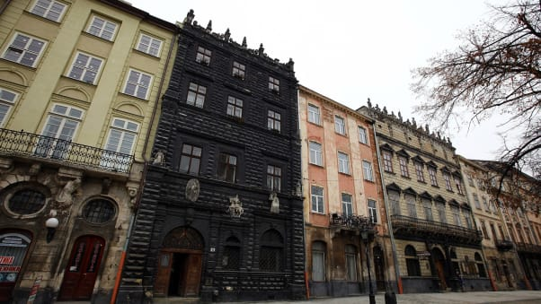 The Black Stone House, built in 1588, is one of Lviv's most famous buildings.