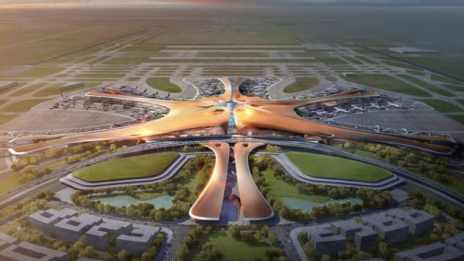 How Daxing Airport will look from the sky