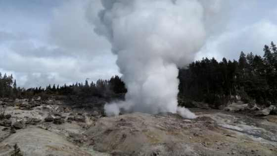 Behnaz Hosseini took this photo of the Steamboat Geyser during the steam phase after the March 16 eruption.