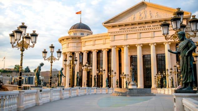 これは首都スコピエにあるマケドニア考古学博物館です。