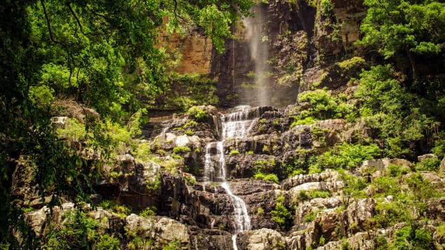India's Talakona Waterfall is located in southeast India's Sri Venkateswara National Park.