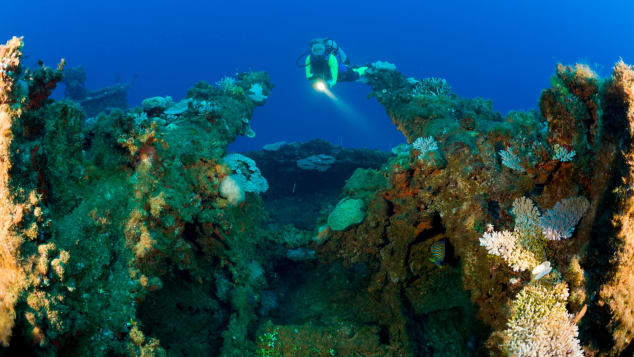 The waters around the Marshall Islands are home to spectacular scuba diving sites.