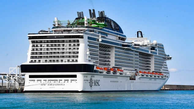 The MSC Grandiosa cruise ship will embark on a seven-night cruise on August 16.