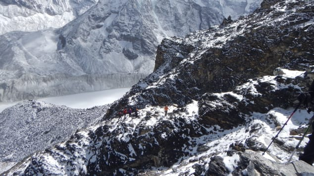 A view of Island Peak at Mount Everest, one of the most challenging mountains to summit in the world.