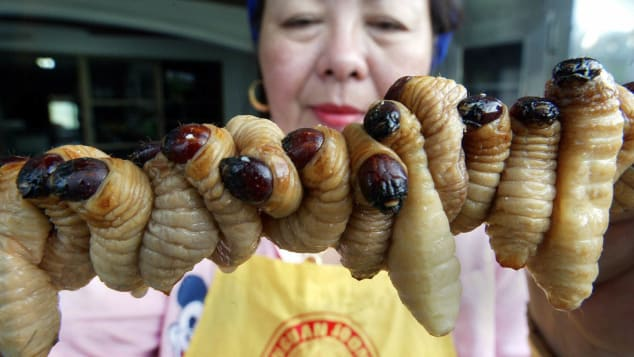 Insect consumption is more commonplace in countries such as Thailand.