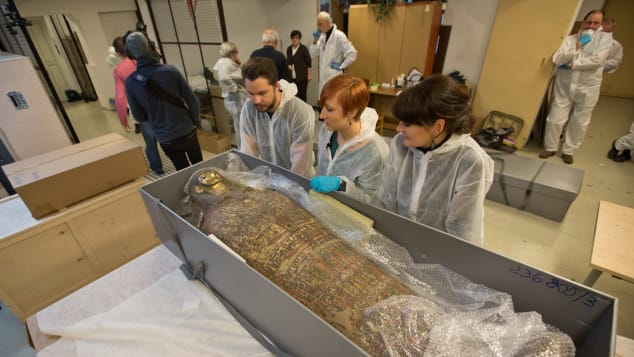 The mummy, which is part of a collection owned by the University of Warsaw, has been on loan to the National Museum in Warsaw since 1917.