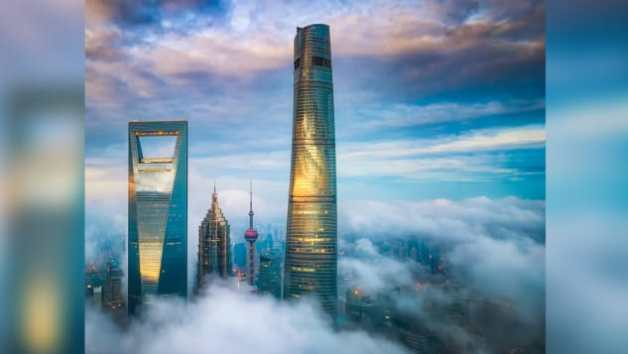 The 632-meter Shanghai Tower is China's tallest building.