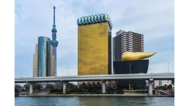 The headquarters of Asahi Breweries in Japan.