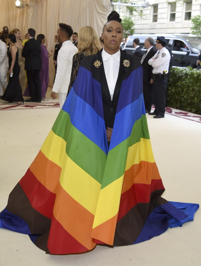 23 met gala red carpet Lena Waithe