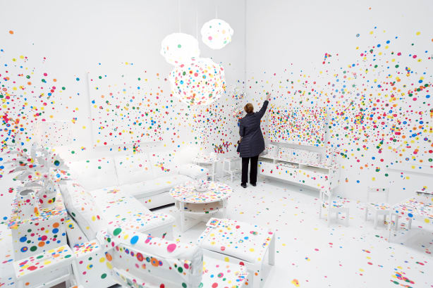 Yayoi Kusama Obliteration Room RESTRICTED
