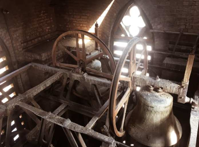 Inside the bell tower of Cathedral Church of Lahore.