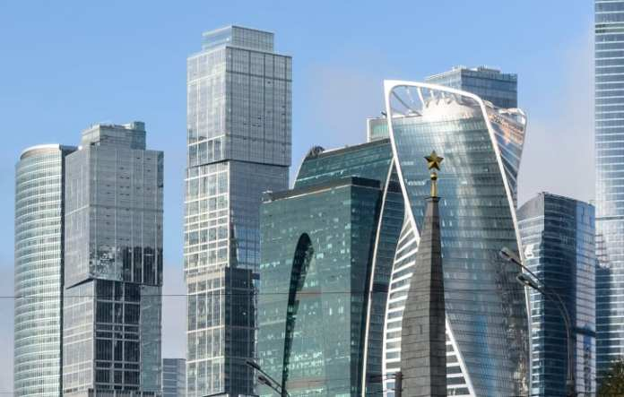 The Moscow City business district in the Russian capital.